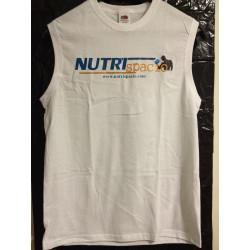 Camiseta Nutrispacio blanca sin mangas