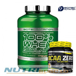 100% Whey Isolate - 2000 gr + BCAA Flash Zero - 360 gr manzana