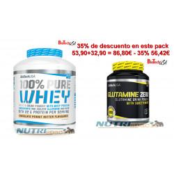 100% Pure Whey - 2270 gr + Glutamine Zero - 600 gr
