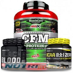 CFM Nitro Protein - 2k + BCAA 8:1:1 - 250 gr + Black Blood CAF - 300gr