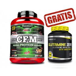 CFM® Nitro Protein Isolate - 2 kg + Glutamine Zero 600 gr