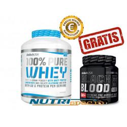 100% Pure Whey -2270gr + Black Blood NOX+ - 330gr