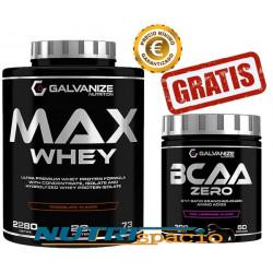 Max Whey - 2280 gr + BCAA Zero - 300 gr GRATIS
