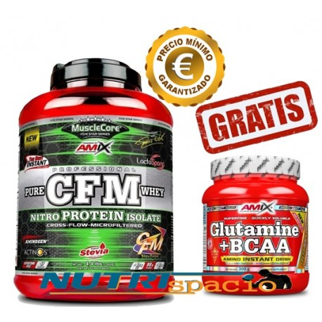 CFM Nitro Protein 2kg + Glutamine+BCAA - 300 gr